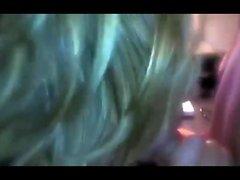 Elsa Teen Blonde blowjob pussy fuck POV