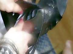Filthy Amateur Transsexual Cumming On Shoe