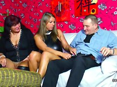 German Mom and Dad Seduce Young Girl to Fuck for Money