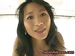 Real asian mature natsumi kitahara undressing part6