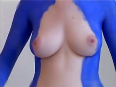 Body Painting Big Tits Boobs Tight Pussy