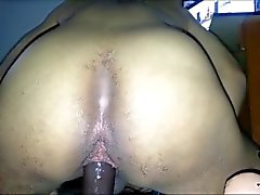 Gay Black Homie Shaking Booty Shows Asshole riding BBC dildo