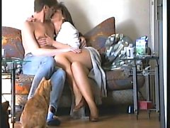 Amateur MILF that is French gets naughty