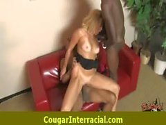 Sexy cougar MILF loves to fuck black monster dick 10