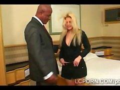 Horny black businessman pounds big Brazilian booty