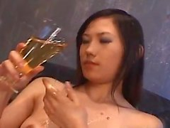 Yui Komine gets cucumber