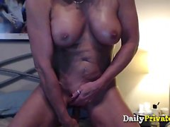 Sexy muscular busty cougar with french accent