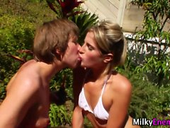 Milk soaked lesbo rims