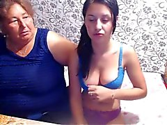 Mature BBW Mother and not Her Teen Daughter Play on Webcam