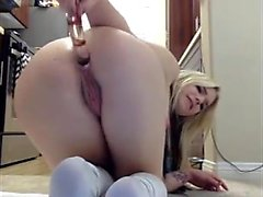 Great Blonde Home Masturbation