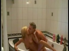 Couple have sex in jacuzzi
