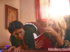 Busty Nuns Nikki & Jessica Fuck The Priest in Church!