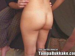 Big Tits Teen Latina Group Fuck Bukkake