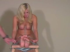 Bound Blonde Soles Feet Bastinado Falaka - LoversHeels@Pornhub