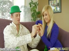 Sexy Blonde Teen Fucks Step Brother