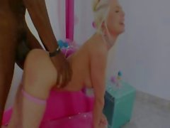 Blonde anal acrobat with brutal anal