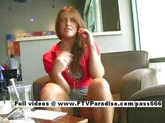 Mya funny teenage babe public flashing