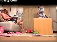 Cheating Japanese Girlfriend Caught On Camera