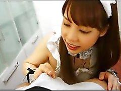Japan Maid Swallows Cock