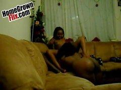 HomeGrownFlixcom - Ebony Black Amateur Nympho Sextape 28886