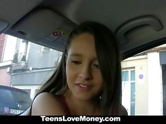 TeensLoveMoney Curvy Latina Fucked For Free Ride