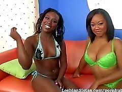 2 Hot Black Babes Please Each Other!