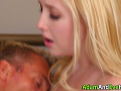 Toyed teen spunked over