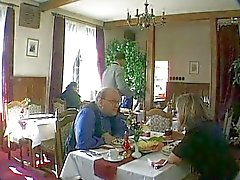German Bitch fucked in Public Restaurant