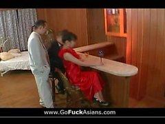 Asian slut to orgasm