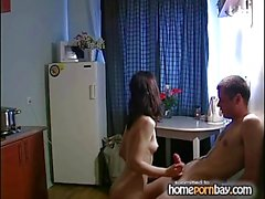 Russian amateur kitchen fuck 4