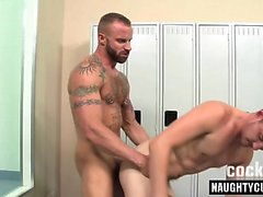 Hairy gay bareback and cum on face