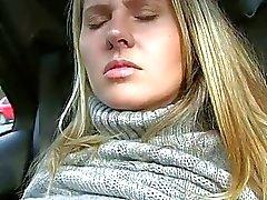 Czech babe Zuzana flashes and pounded