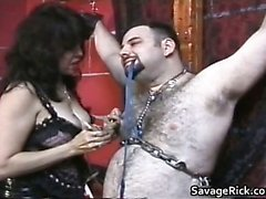 Fat and hairy dude gets tied and ass part3