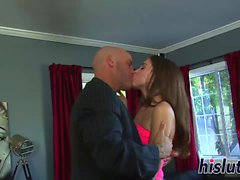 Gorgeous Riley gets her hairy pussy plugged