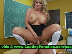 Heather Summers blonde schoolgirl fucked