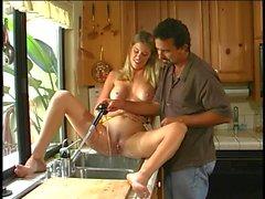 MILF hottie banged in the kitchen