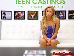 Petite teen bound and hardfucked at casting