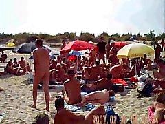 avsugning på nudist french strand