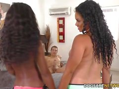 Mya Mays and Millie Stone Share Huge White Cock