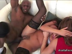 Ariella Ferrera and Deauxma Double Team Prince Yahshua's