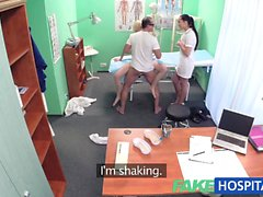 FakeHospital Doctor and nurse team up and pleasure