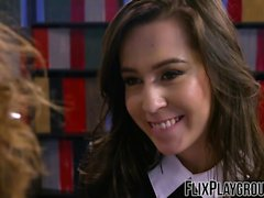 Nerdy chick loves fucking with her teacher for good grades