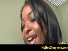 Interracial gloryhole amazing blowjob video 18