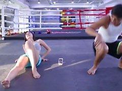 hot asian girl in gym