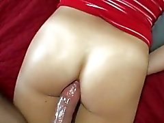 Slutty amateur chick first time anal sex
