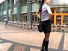 Chicas joven alemán quiere Grupo El Pecho Público