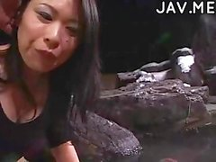 Asian stunning cumshot orgy