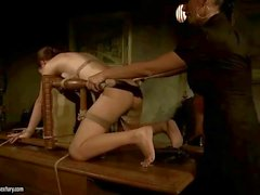 Mistress punishing cute slavegirl