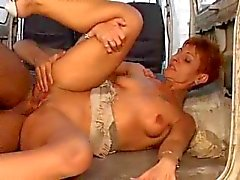 Car mechanic gets anal fucked a mature milf