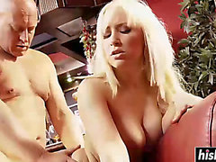 Excellent blond in nylons acquires nailed